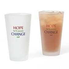 Hope and Change Drinking Glass