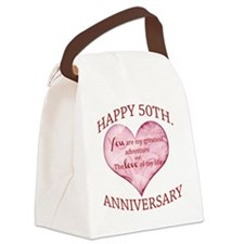 50th. Anniversary Canvas Lunch Bag