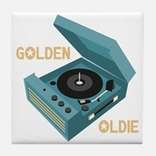Golden Oldie Tile Coaster