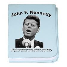 JFK Wealth baby blanket