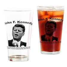 JFK Wealth Drinking Glass