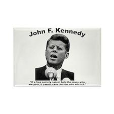 JFK Wealth Rectangle Magnet
