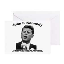 JFK Wealth Greeting Card