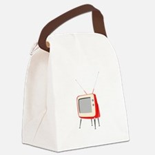 Television Canvas Lunch Bag