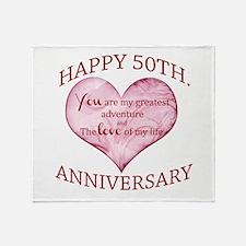 50th. Anniversary Throw Blanket