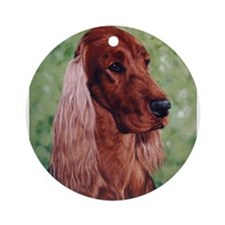 Cute Irish setters Ornament (Round)