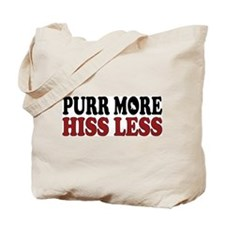 Snowshoe Purr Tote Bag