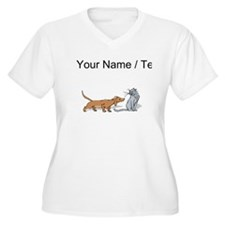 Dog And Cat (Custom) Plus Size T-Shirt