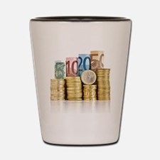euro currency Shot Glass