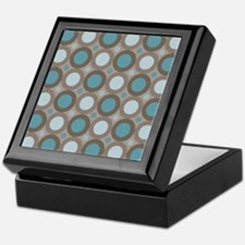 Teal Retro Mod Dots Keepsake Box