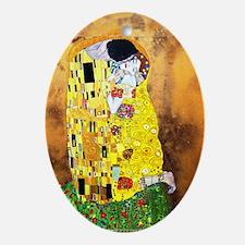 The Kiss by Gustav Klimt Ornament (Oval)