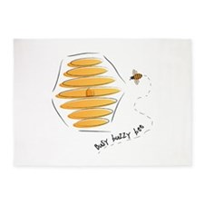 Busy Buzzy Bee 5'x7'Area Rug