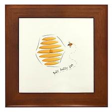 Busy Buzzy Bee Framed Tile