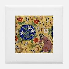 Letter Fall Tile Coaster