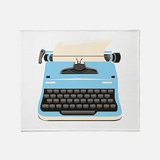 Typewriter Throw Blanket