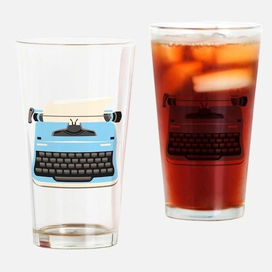 Typewriter Drinking Glass