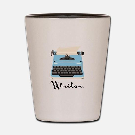 Writer Shot Glass