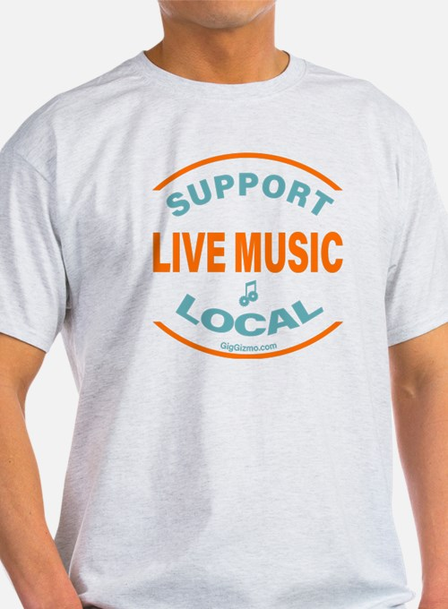 Support local music t shirts shirts tees custom for Local custom t shirts