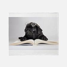 Black Pug Throw Blanket