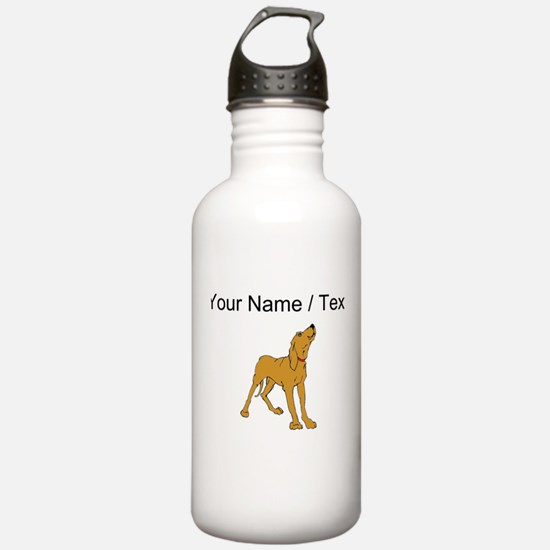 Redbone Coonhound (Custom) Water Bottle
