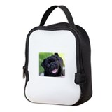 Black pug Lunch Bags