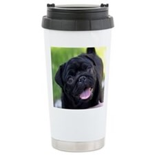 Black Pug Travel Mug