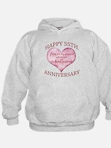 55th. Anniversary Hoodie