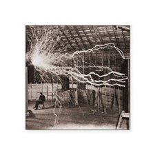 "Nikola Tesla at Colorado Sp Square Sticker 3"" x 3"""