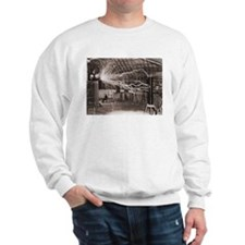 Nikola Tesla at Colorado Springs Sweatshirt