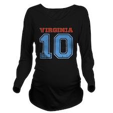 Virginia 10 Long Sleeve Maternity T-Shirt