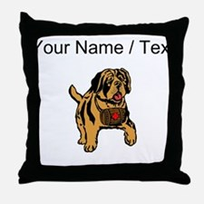 St. Bernard Puppy (Custom) Throw Pillow