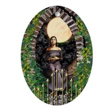 Gothic Art Oval Ornament