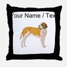 St. Bernard (Custom) Throw Pillow