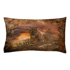 Sunset Cougar Pillow Case