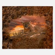 Sunset Cougar King Duvet