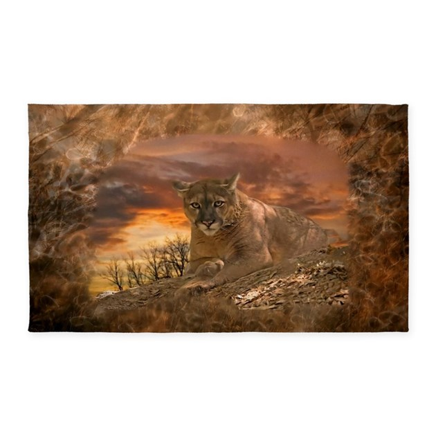 Game Area Rugs: Sunset Cougar Area Rug By Sportsmanhill