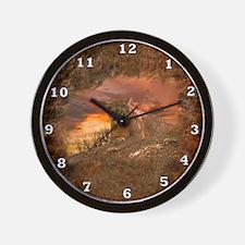 Sunset Cougar Wall Clock