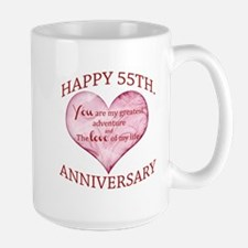 55th. Anniversary Mugs