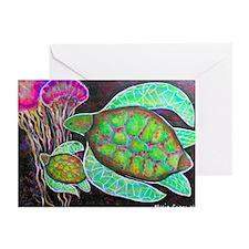 Maui Sea Turtle Art Greeting Cards