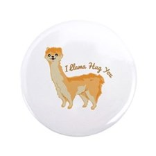 "Llama Hug 3.5"" Button (100 pack)"