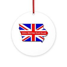 Iowa British Round Ornament