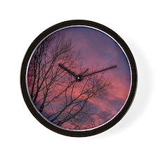 Skies on Fire Wall Clock