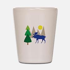 Moose Scene Shot Glass