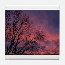 Skies on Fire Tile Coaster