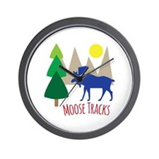 Moose Tracks Wall Clock