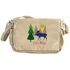 I Love Moose Messenger Bag