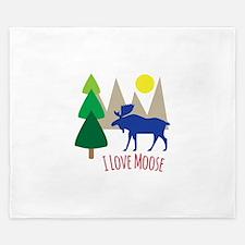 I Love Moose King Duvet
