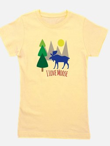 I Love Moose Girl's Tee