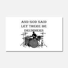 God Made Drummers Car Magnet 20 x 12
