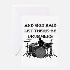 God Made Drummers Greeting Cards